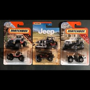 Matchbox Jeep and Off Road Set